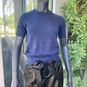 Theory Tolleree NS 100% Cashmere Short Sleeve Top